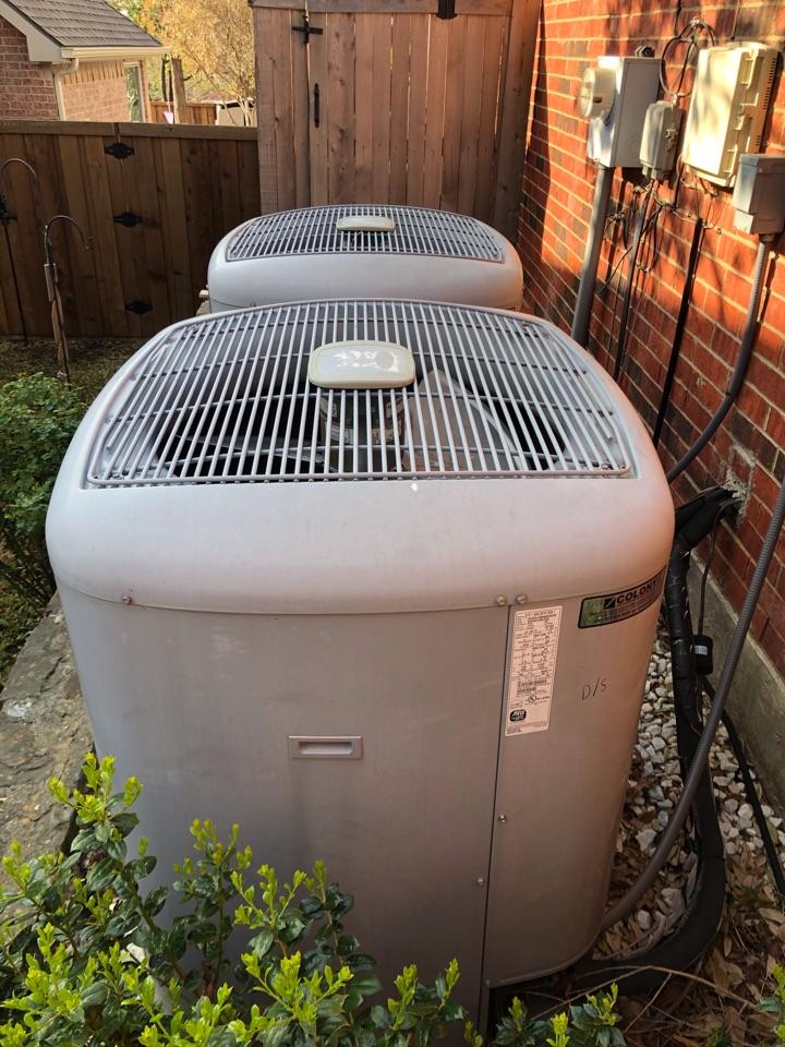Highland Village, TX - 2 CARRIER infinity AC maintenance