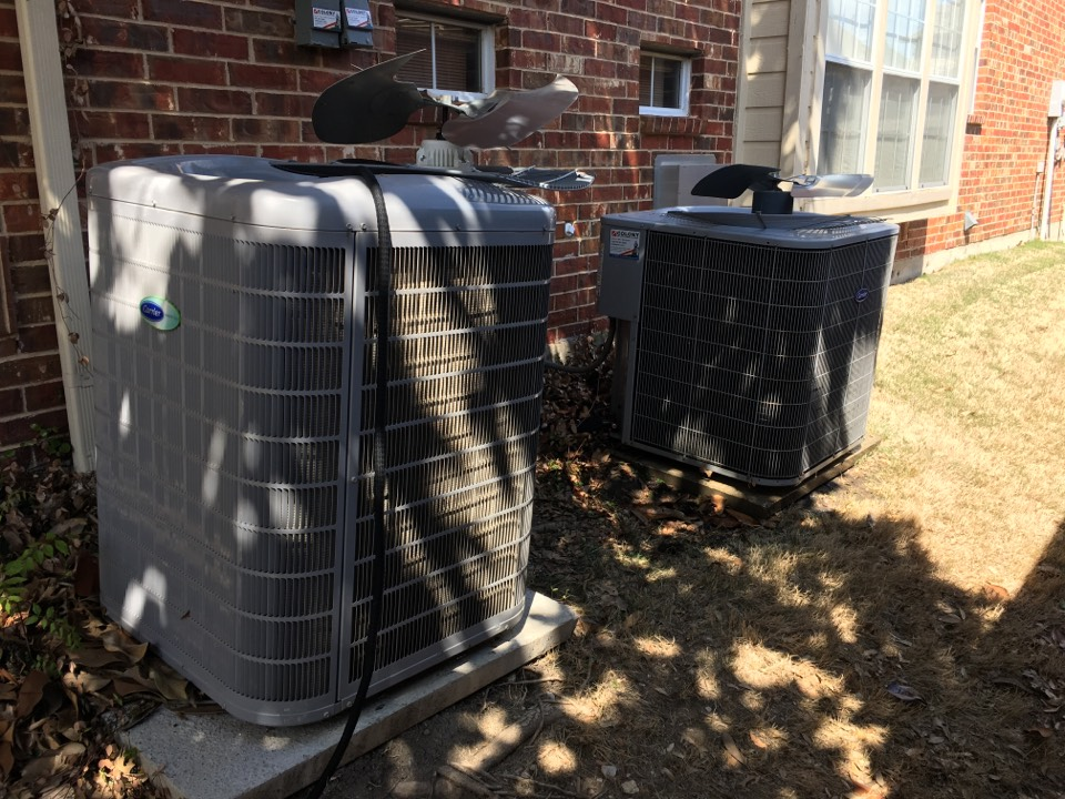 Plano, TX - Washing condenser coils on a cooling tune up