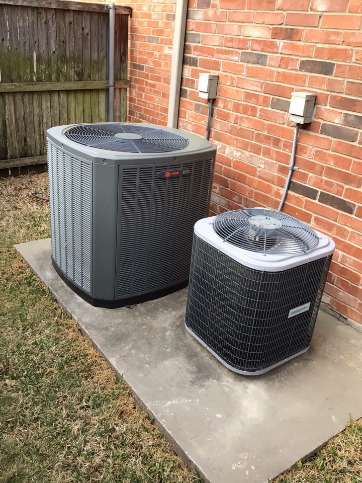 Coppell, TX - Performing a cooling tune up on two systems