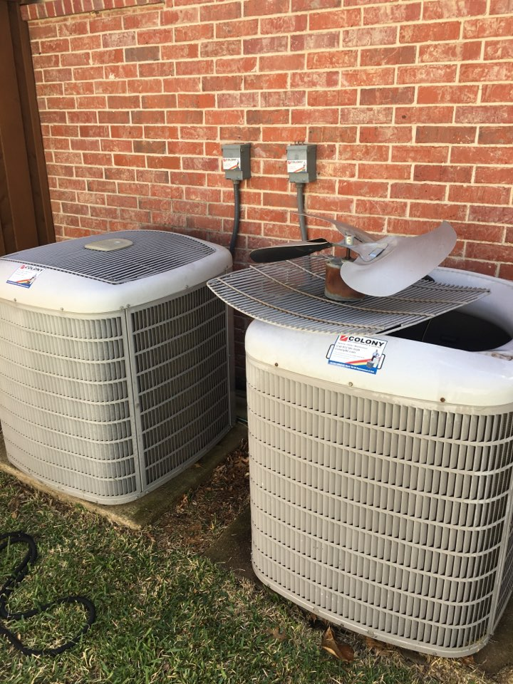 Farmers Branch, TX - Performing a cooling tune up on two Carrier systems