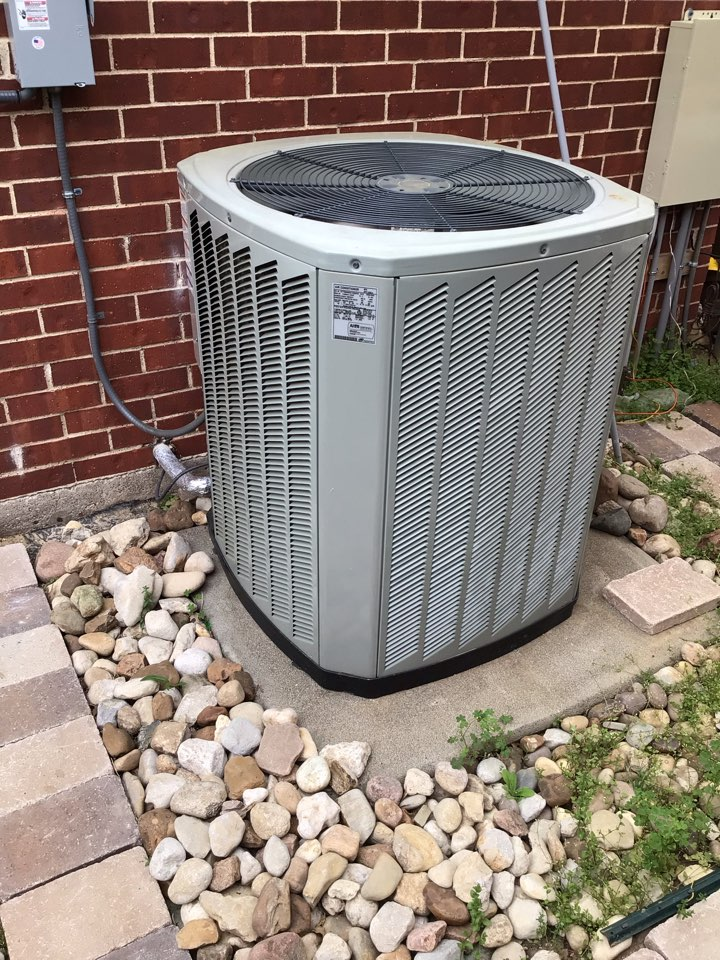 Coppell, TX - Performing an air conditioning tune up on two Trane systems