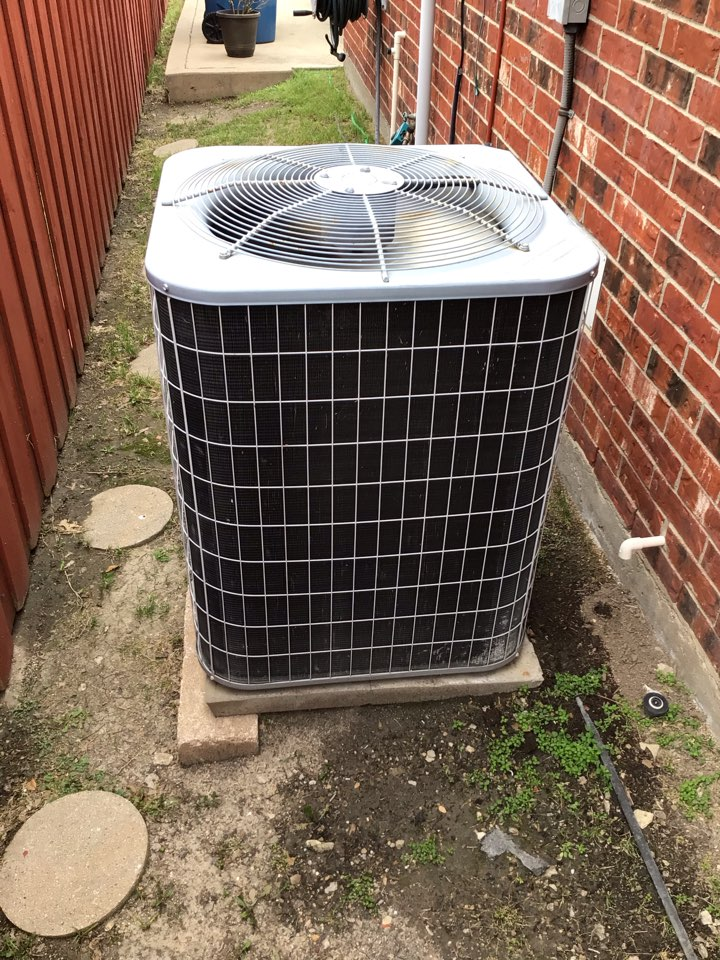 The Colony, TX - Performing an air conditioning tune up on one system