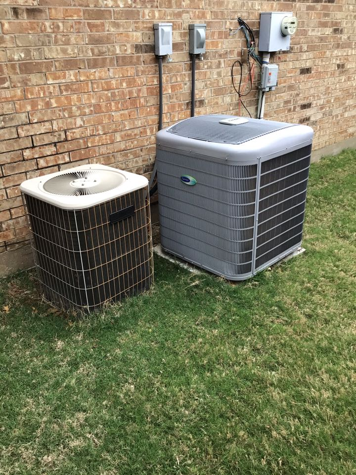 The Colony, TX - Performing an air conditioning tune up on two systems