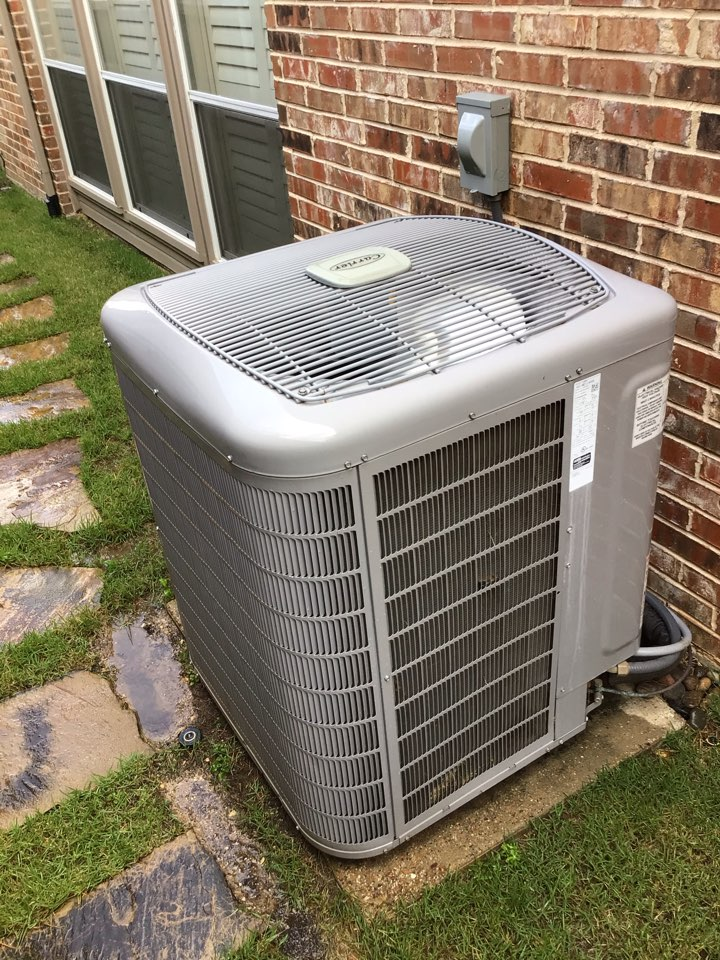 Dallas, TX - Performing an air conditioning tune up on three Carrier systems
