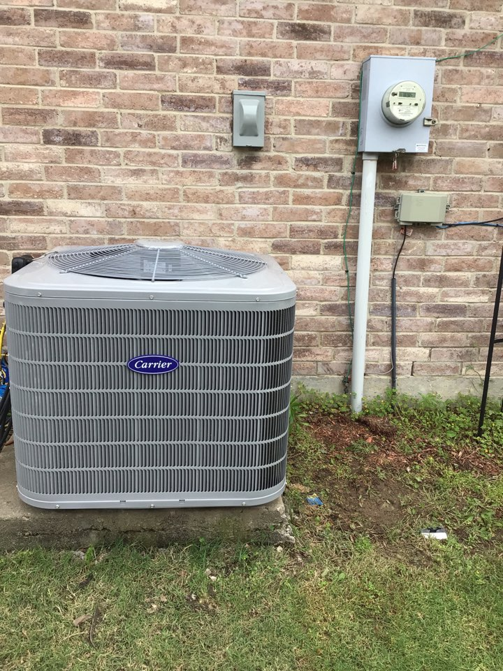 Little Elm, TX - New Carrier furnace, coil and air conditioner installation