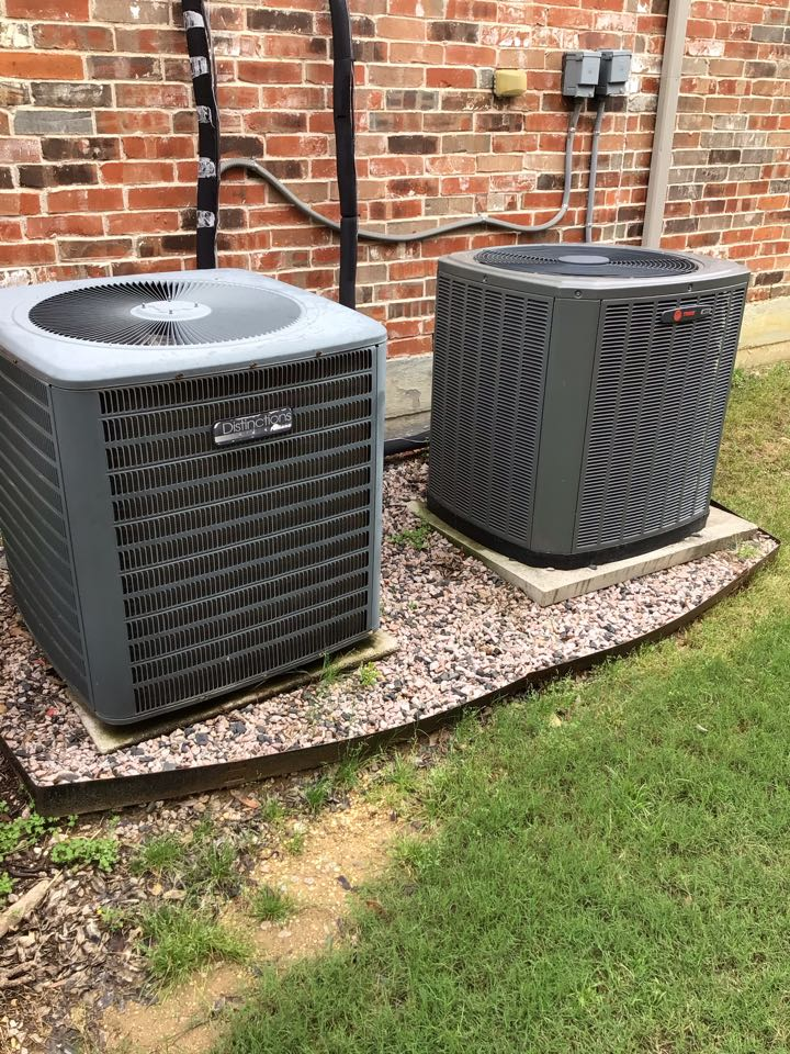 Lewisville, TX - Performed an air conditioning tune up on two systems