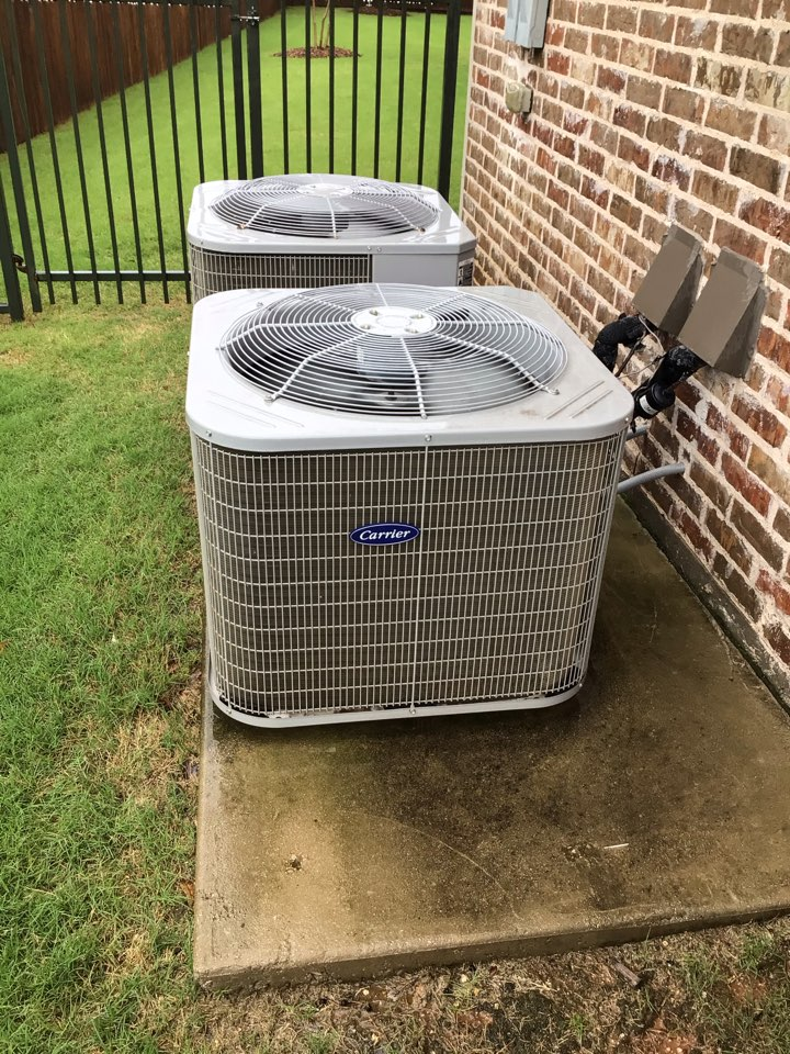 Prosper, TX - Performing an air conditioning tune up on three Carrier systems