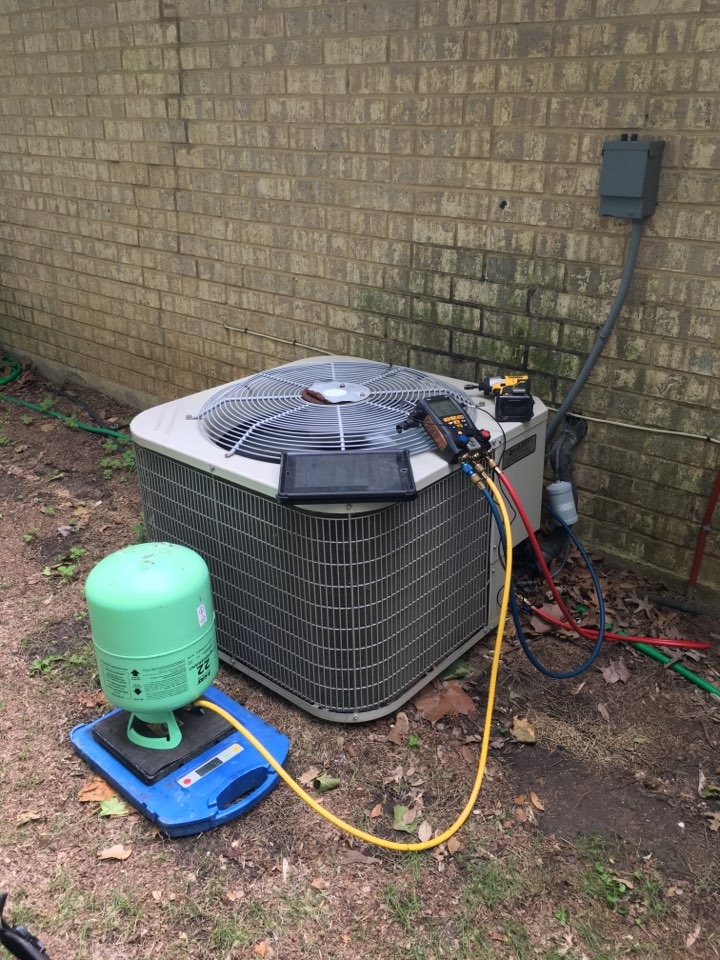 Carrollton, TX - Providing service to GOODMAN and PAYNE AC systems in CARROLLTON. Found both systems undercharged and requiring an adjustment to help system performance and efficiency. Systems back online and cooling properly at this time.