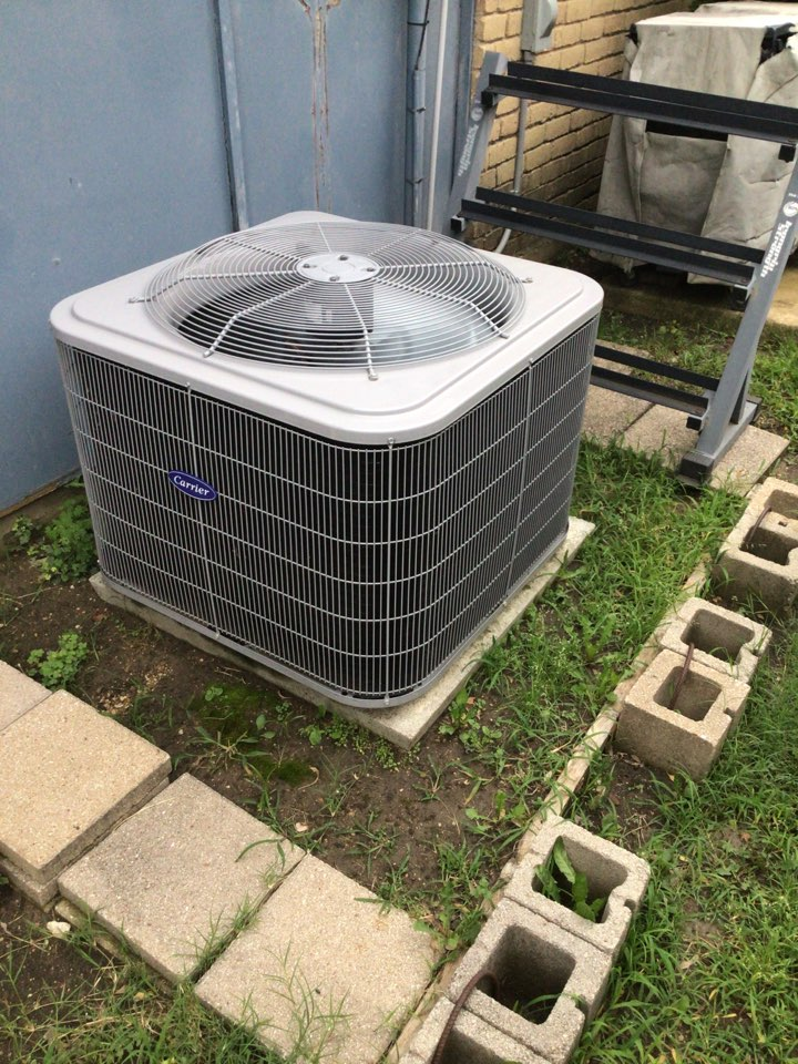 The Colony, TX - Performing a cooling tune up on one Carrier system