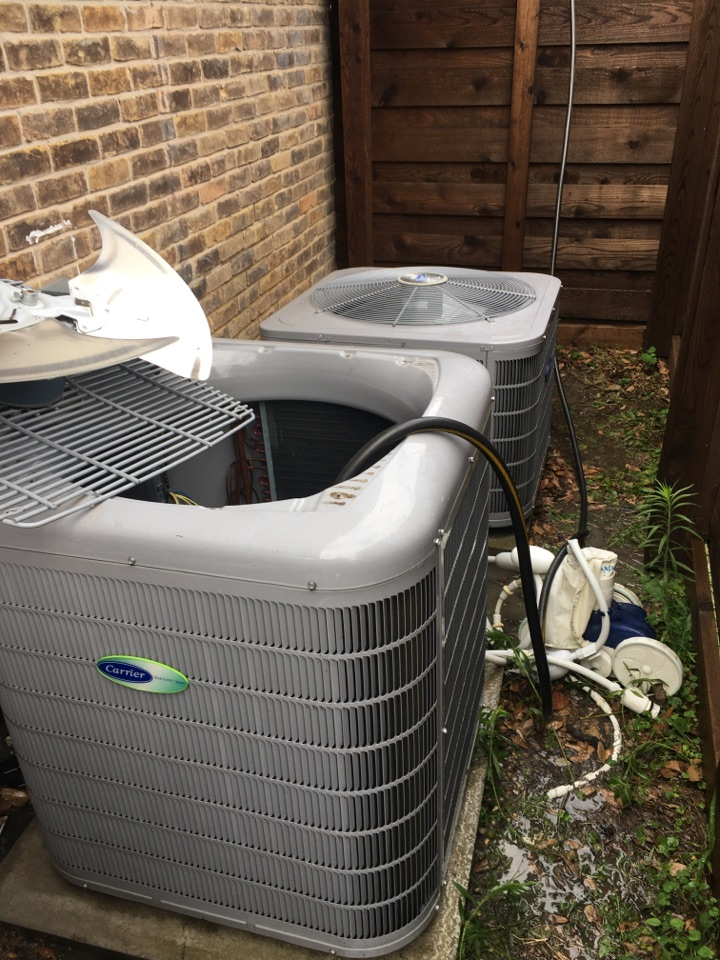 Dallas, TX - Performing a cooling tune up on two Carrier systems