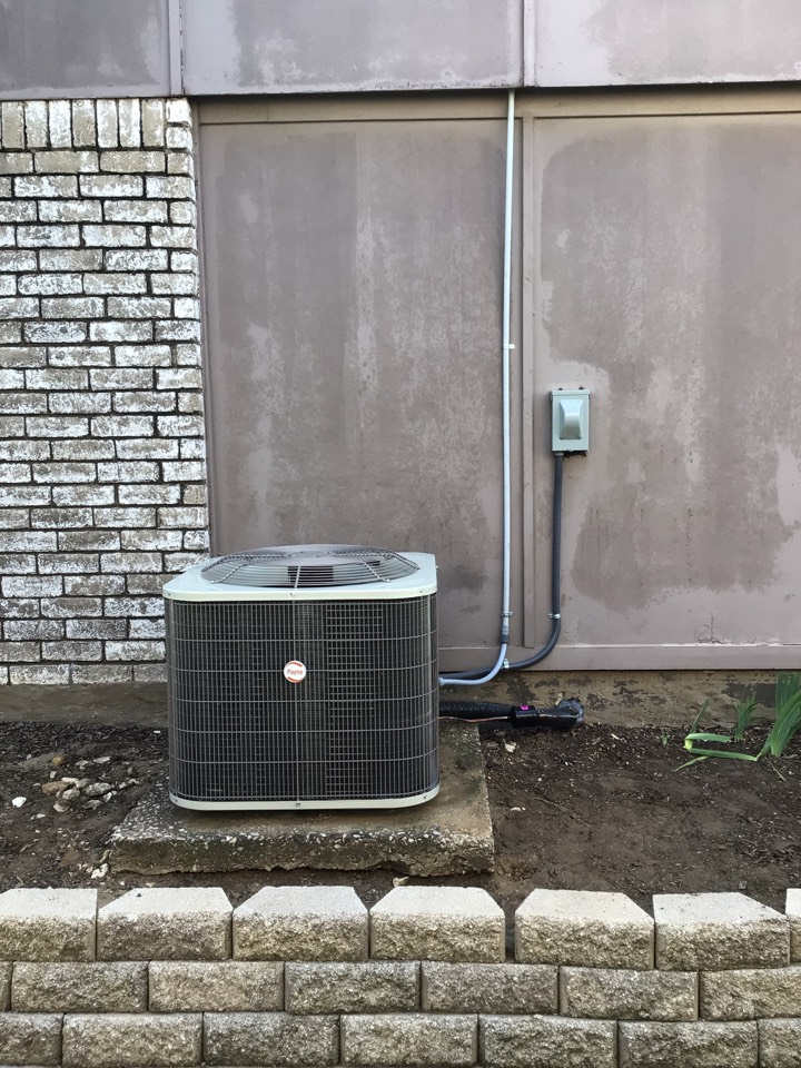 Install new 3 ton Carrier air handler and Payne condenser