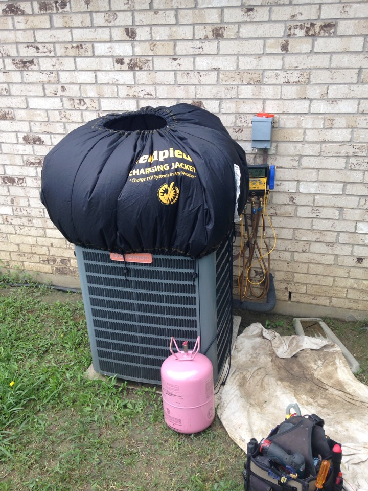 Air conditioning repair and had to do some cool weather charging on a Goodman system.