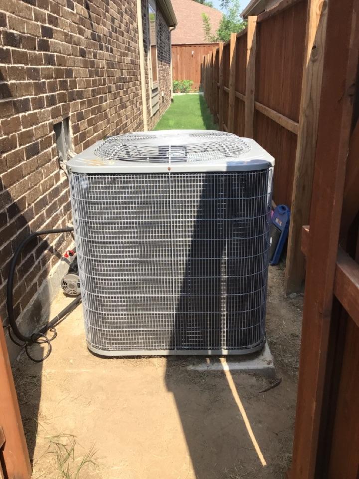 McKinney, TX - Air conditioning repair on Carrier system in McKinney.