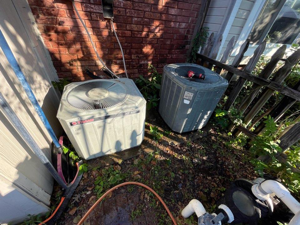 Highland Village, TX - 2 Trane AC maintenance