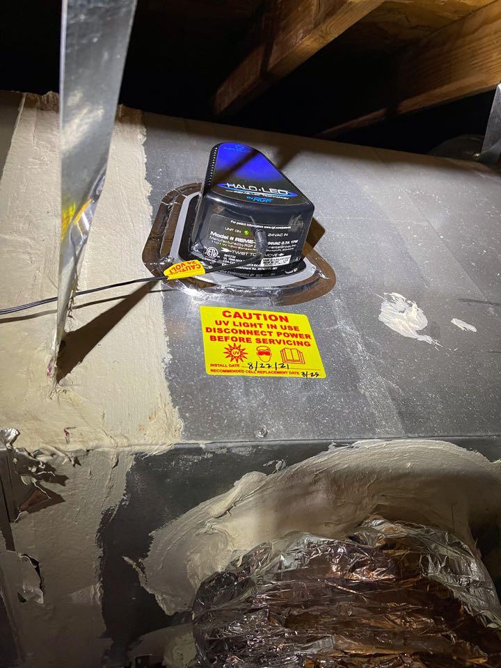 Dallas, TX - Installed REME Halo LED air purifier