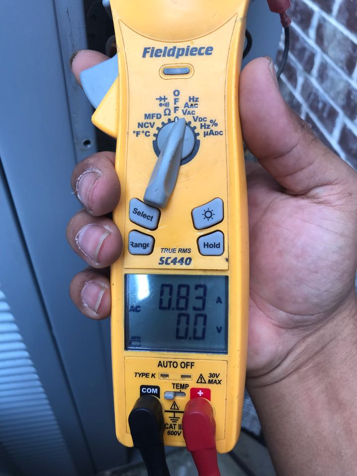 Carrollton, TX - Air conditioning maintenance, check amperage
