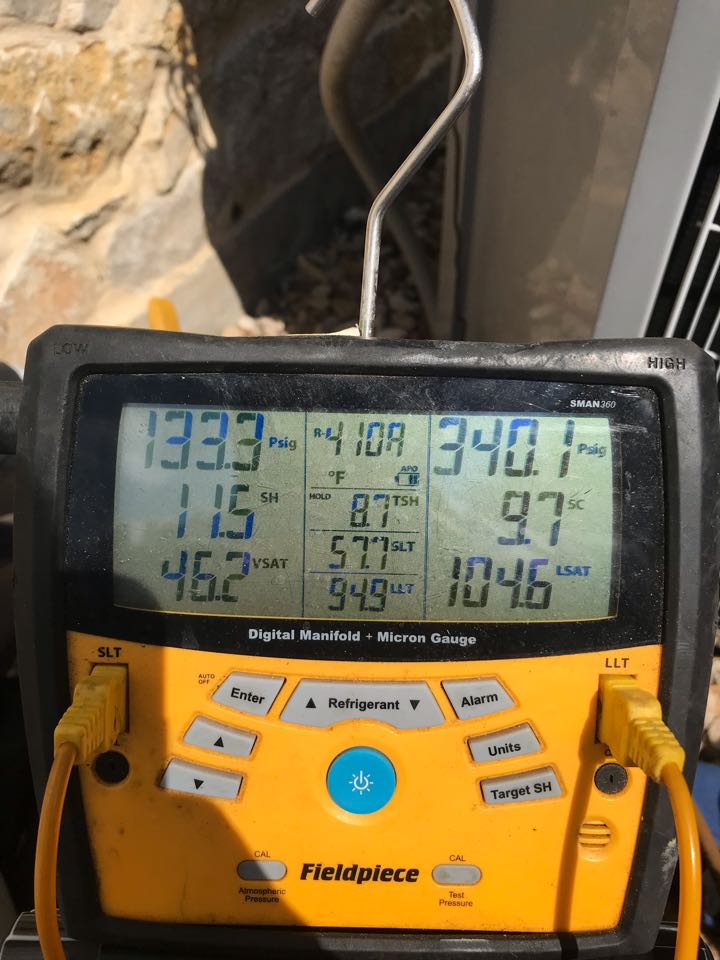 Frisco, TX - Air conditioning service call, system back to cooling mode in Frisco