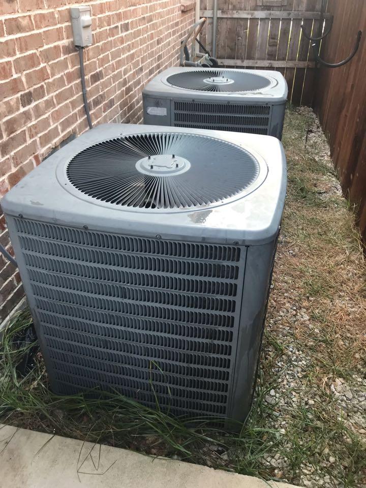 Frisco, TX - Ac tuneup, clean condenser coils