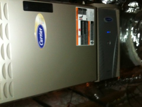 Oak Point, TX - Heating tune up on carrier infinity furnace..
