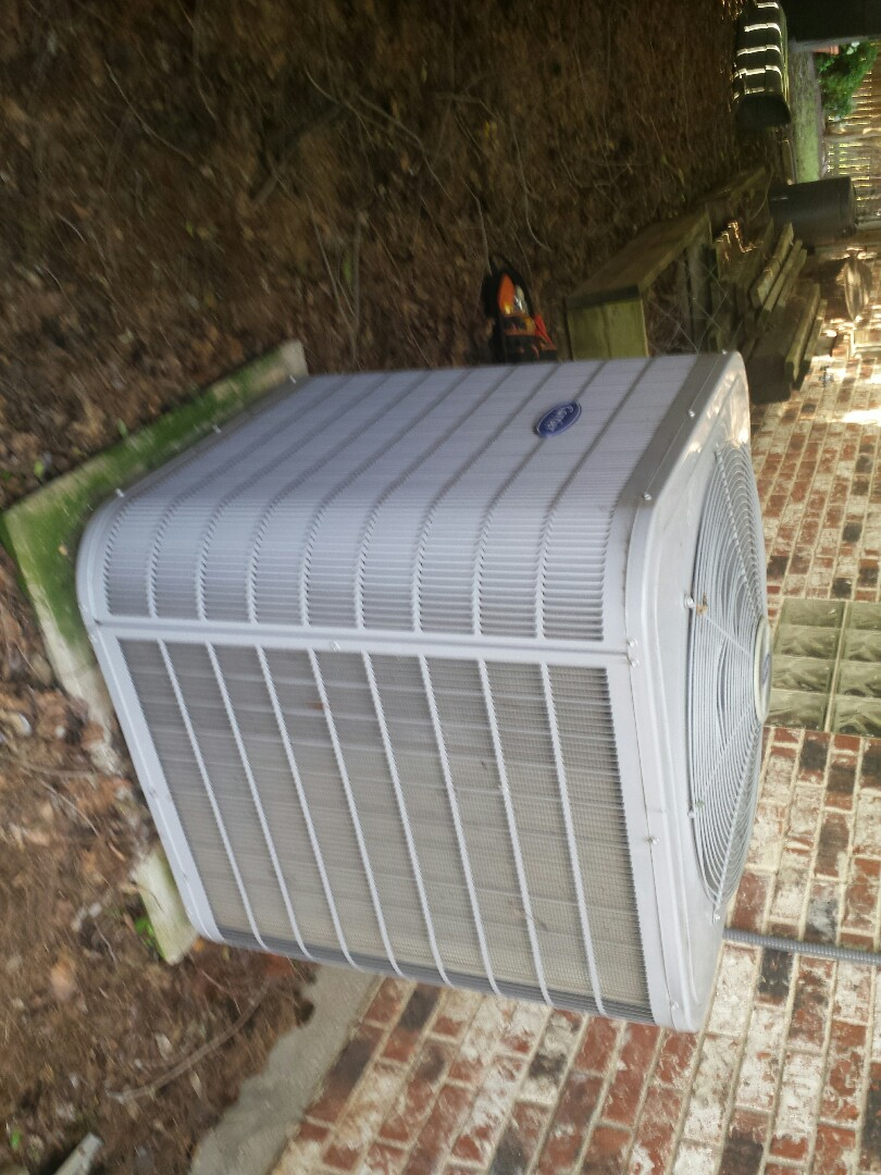 Coppell, TX - Air conditioning service and repair and Performing seasonal ac tune up and inspection on a CARRIER AC system in Coppell