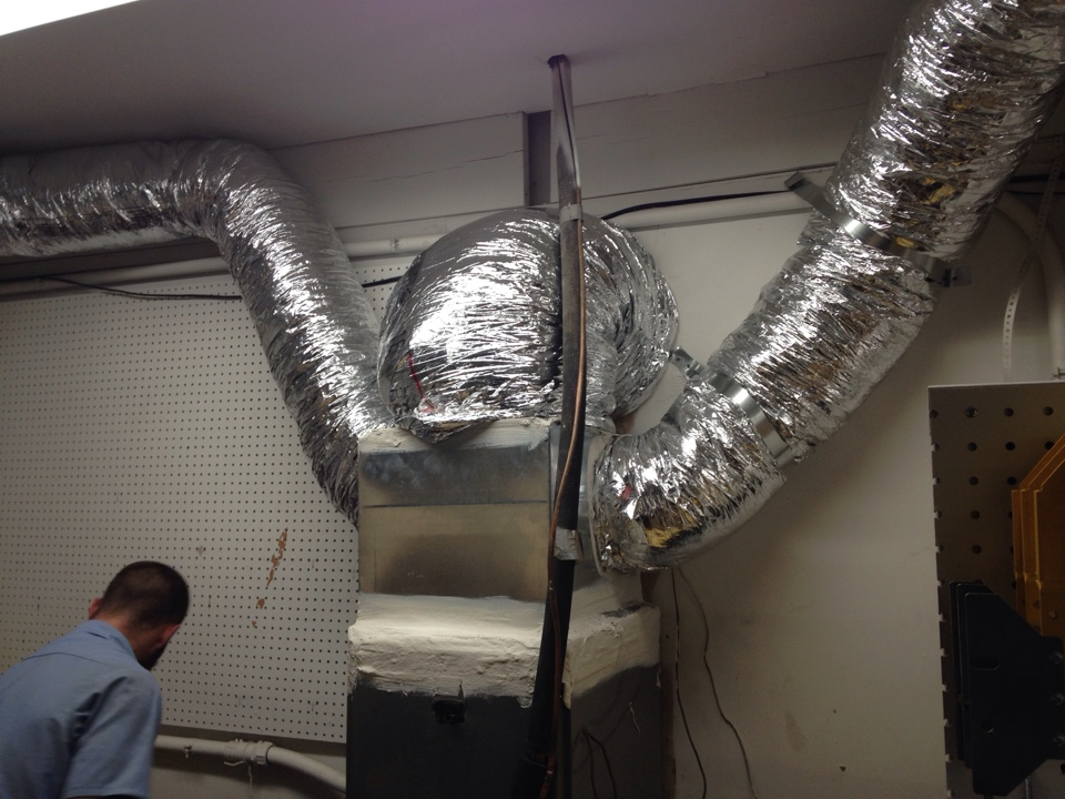 Addison, TX - Duct job in warehouse room, all exposed