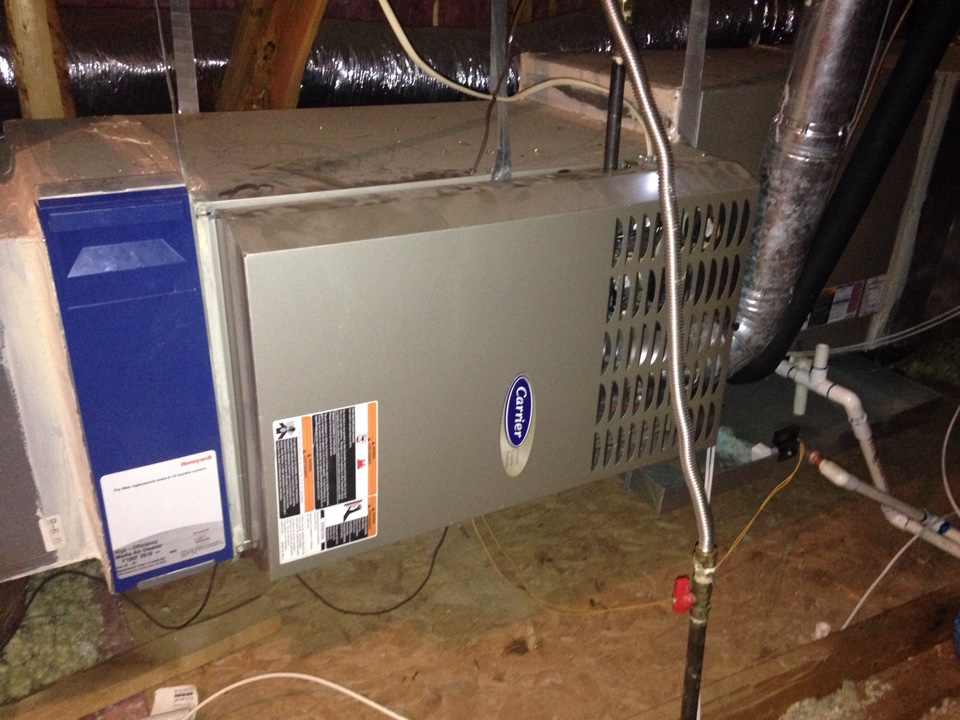 Lewisville, TX - I completed heating furnace repair and seasonal tune up on Carrier system.
