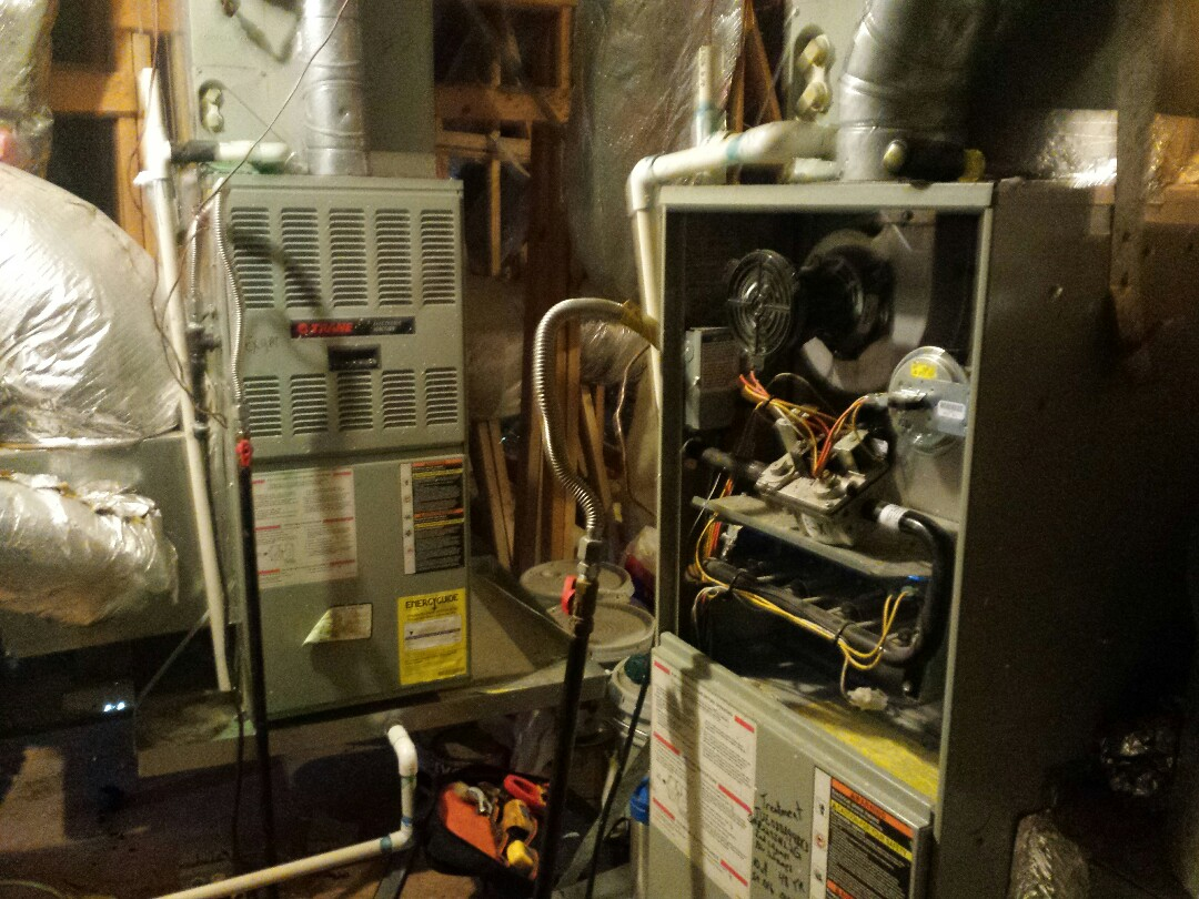 Lewisville, TX - I'm doing a furnace repair and performing seasonal heating tune up and inspection on Trane gas-fired systems in Lewisville.