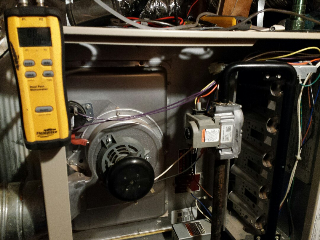 The Colony, TX - Performing seasonal heating tuneup and inspection on a LENNOX gas-fired furnace in The Colony.