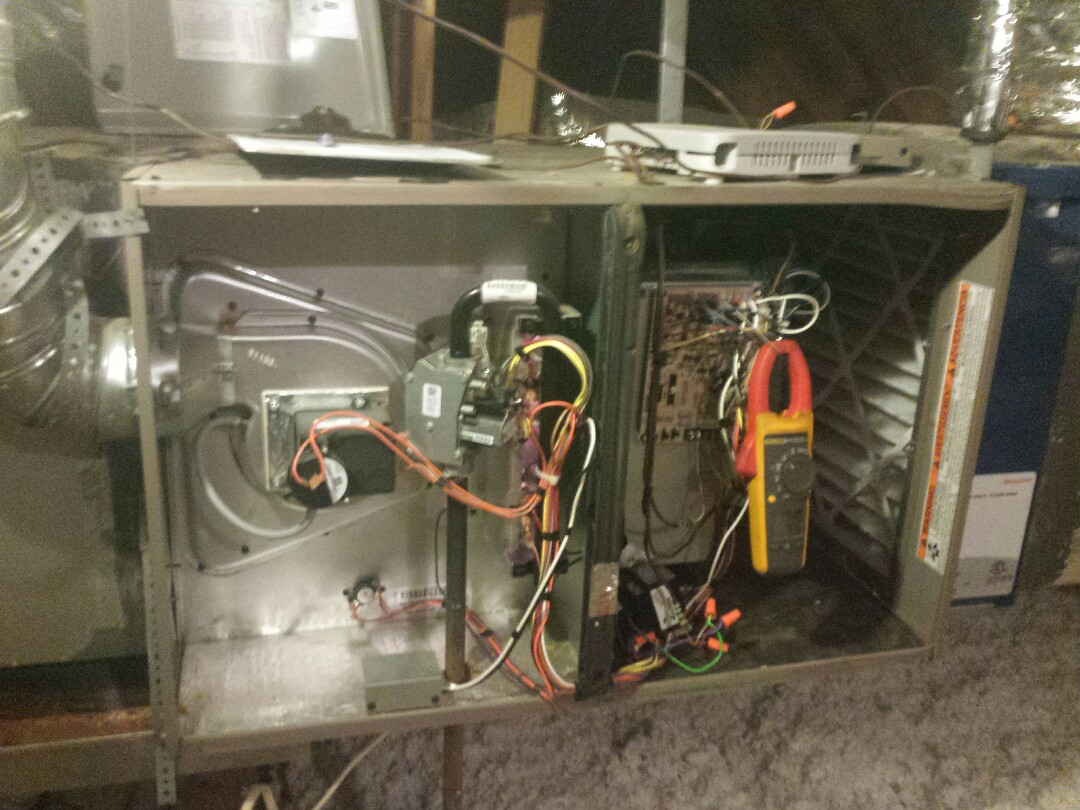 Plano, TX - heater service and repair and Performing seasonal heating tuneup and inspection on a YORK gas-fired furnace in Plano.