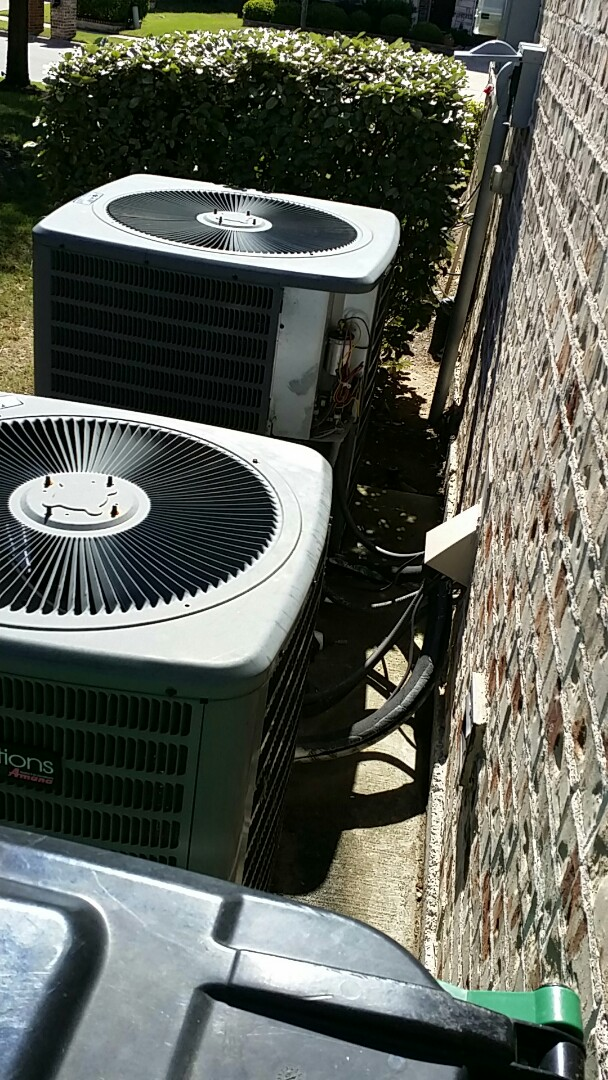 McKinney, TX - I made a minor ac repair and did A/C tune ups and air conditioning maintenance inspections on 2 Goodman Systems