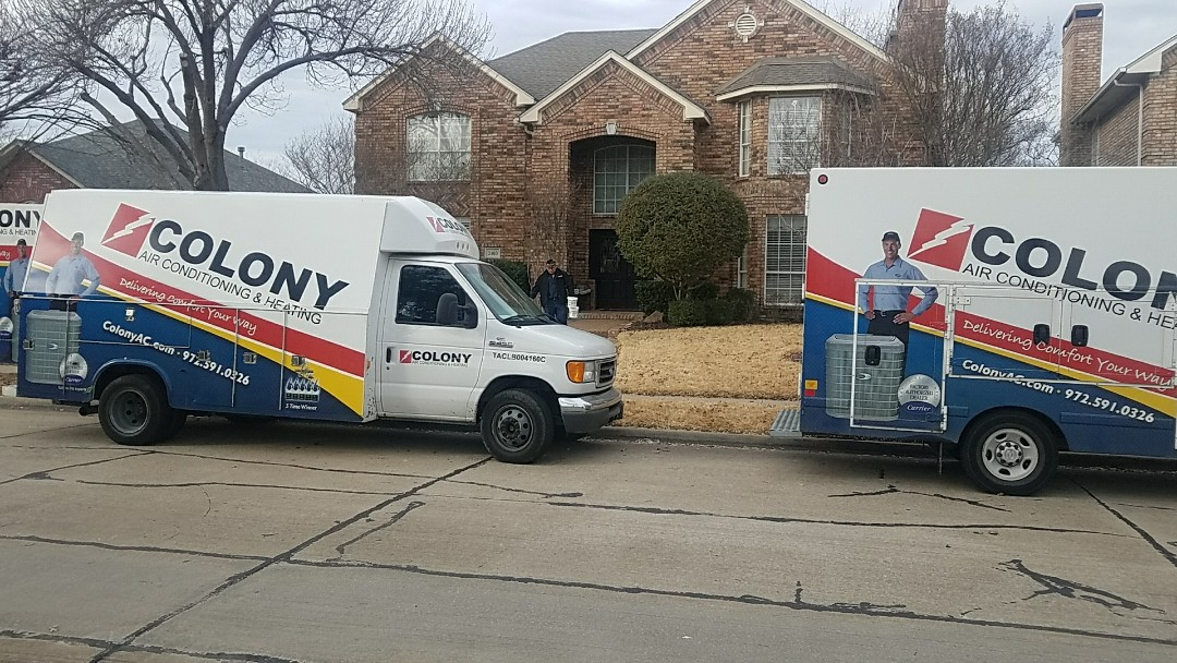 Carrollton, TX -  Installation of a complete heating and air conditioning system!