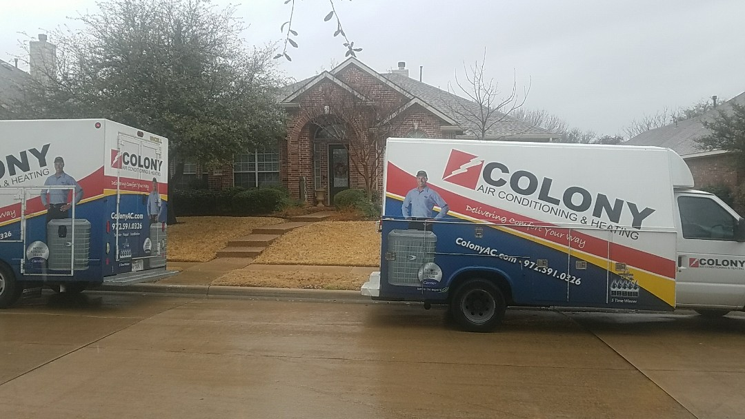 Plano, TX - Complete carrier heating and air conditioning replacement.
