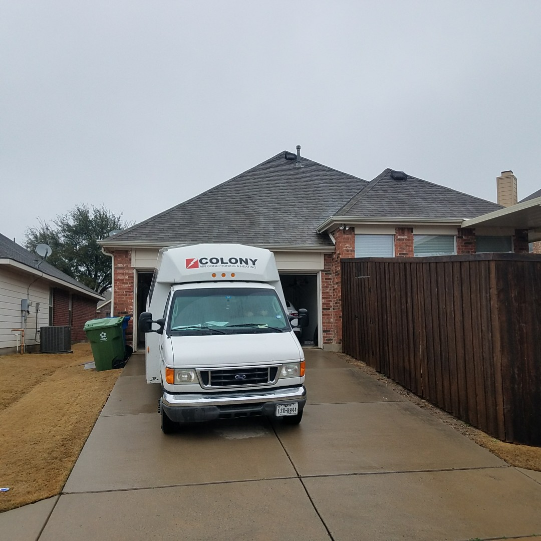 The Colony, TX -  furnace installation change out.