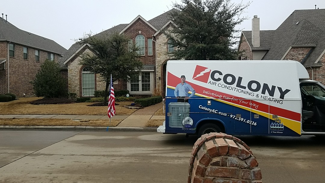Frisco, TX - Complete carrier heating and air conditioning replacement installation.