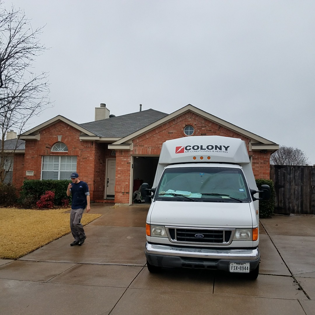 Flower Mound, TX - today we did air conditioning and heating replacement equipment installation.