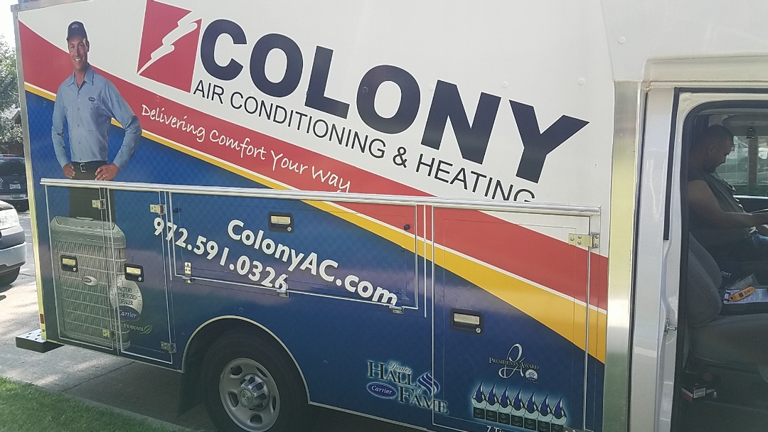 The Colony, TX - Here in the colony today and did air conditioning and heating equipment installation