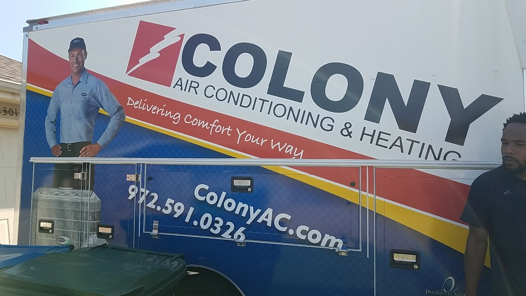 The Colony, TX - we did an air conditioning and heating equipment installation here in The Colony.