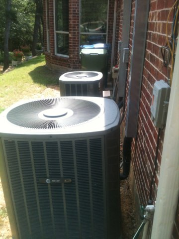 Oak Point, TX - ac service on drain issue.  Trane air conditioning repair caused by low freon.