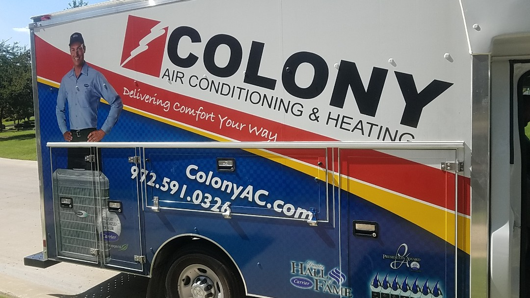 The Colony, TX - we did an air conditioning and heating equipment installation in The Colony