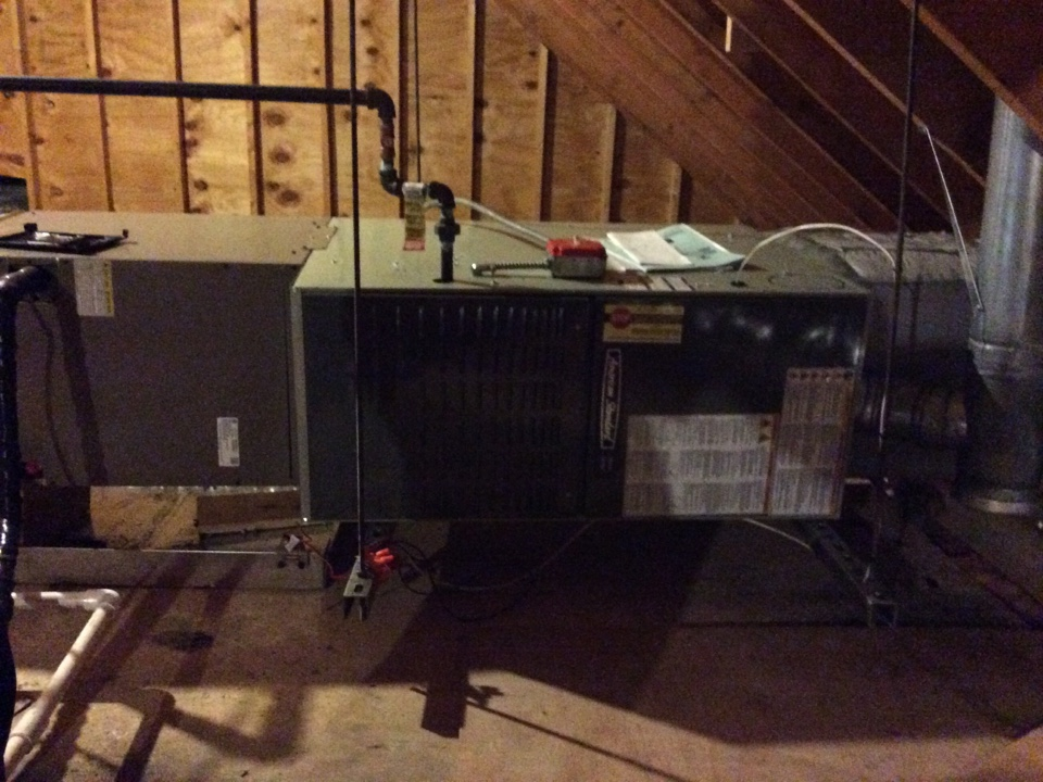 Hopkinton, MA - Annual maintenance on an American Standard heating and cooling system