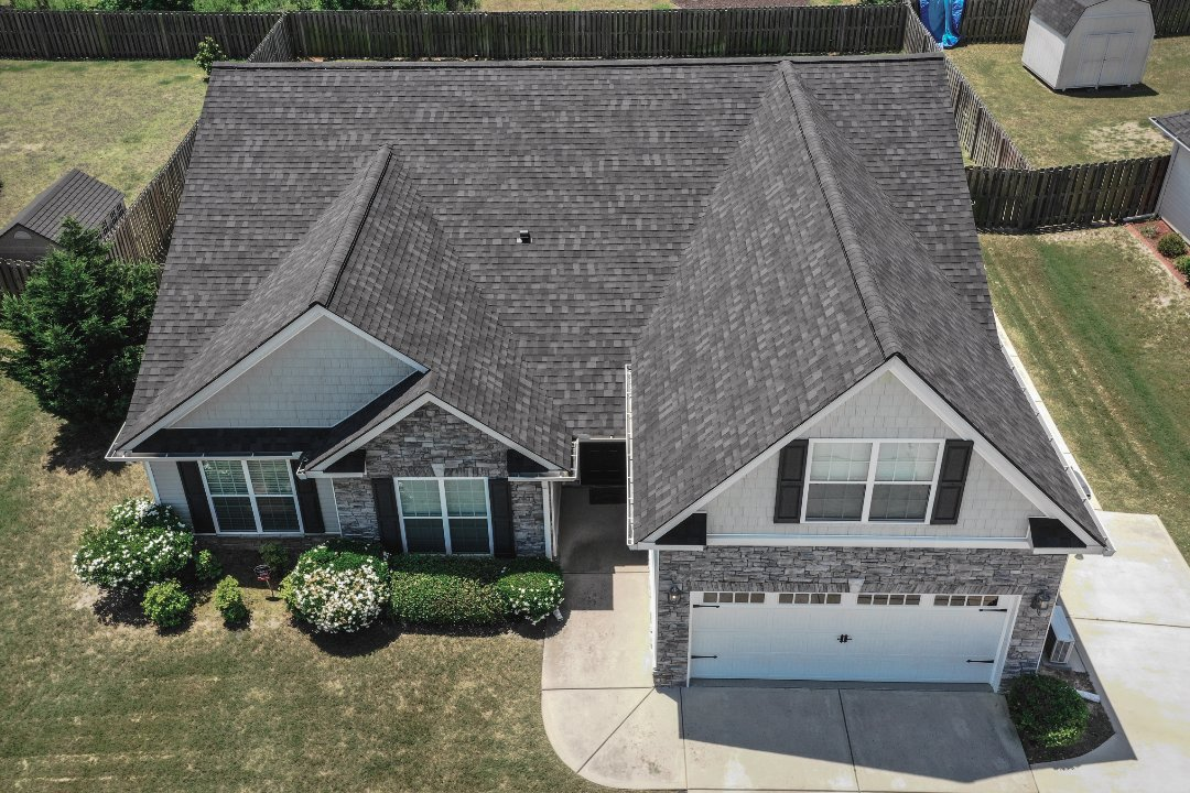 Augusta, GA - Architectural roof finished after insurance paid for full replacement due to wind damage in Augusta Georgia.