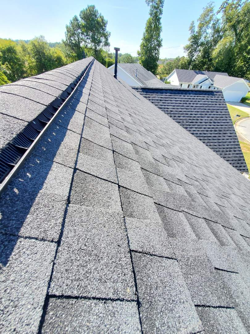 Grovetown, GA - Checking up on an architectural roof done last week by US Roofing LLC. 30 year system was installed on the property. Homeowner was very happy with the job done