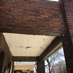 Chicago, IL - Meeting a homeowner in Chicago, IL to estimate the 2nd floor balcony.