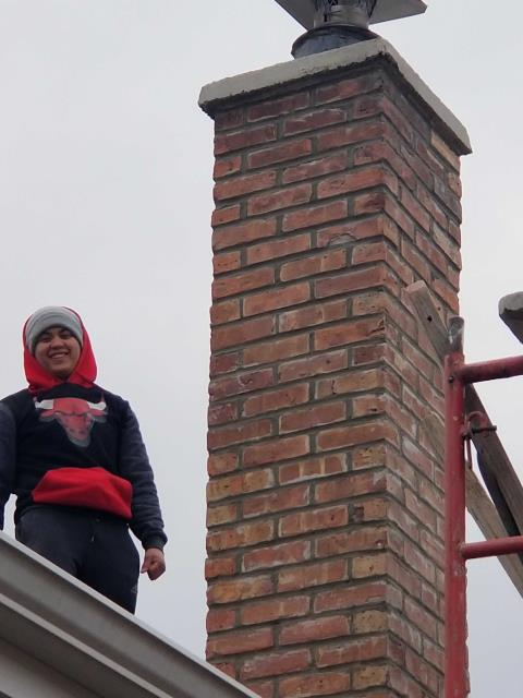 Niles, IL - Completing our tuckpointing and caulking repairs for a customer.