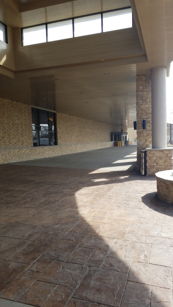 Skokie, IL - A installation of stone veneer for new hotel.