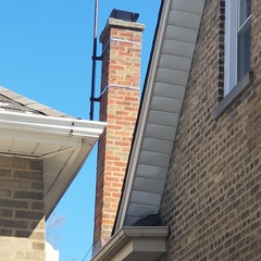 Skokie, IL - Finished installing chimney cap for a homeowner.