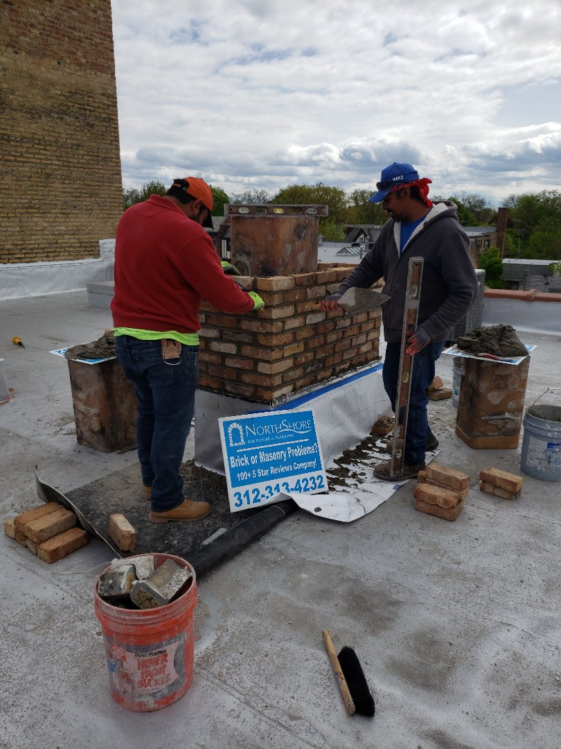 Winnetka, IL - Rebuild a chimney Winnetka