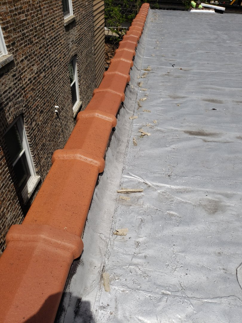 Chicago, IL - Leaking coping in Chicago