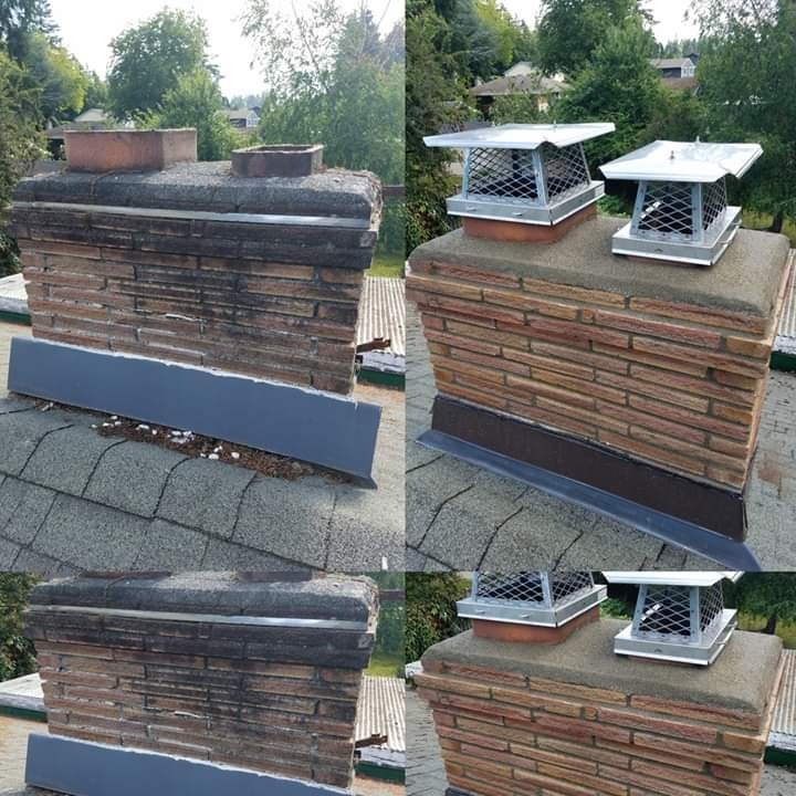 Skokie, IL - Finish a nice chimney is Skokie please feel free to call us for an estimate we especially in chimneys