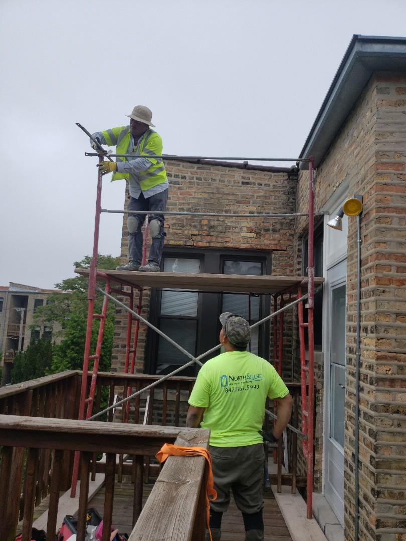 Changing lintels on Evanston for nice customer Judson st